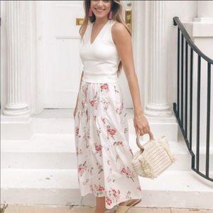 Rebecca Taylor floral Marguerite maxi skirt